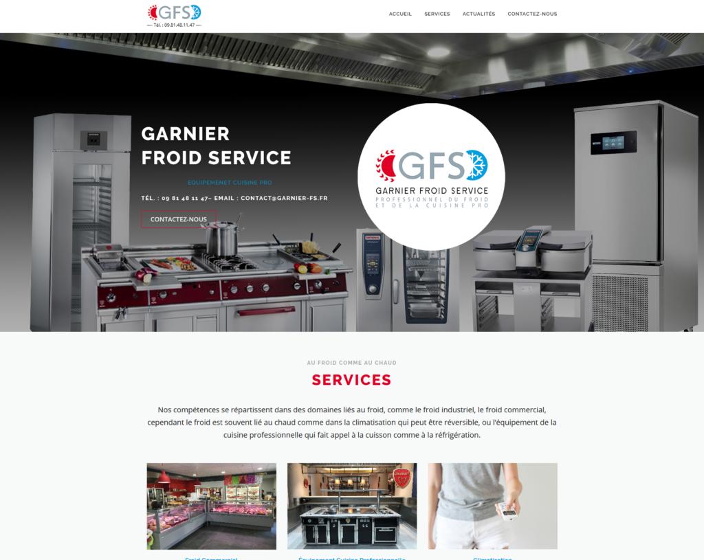 Capture d'écran du site internet Garnier Froid Service